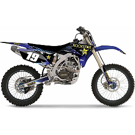 2013 Factory Effex Rockstar Complete Graphics Kit - Yamaha - 2012 Yamaha YZ250 Factory Effex All-Grip Seat Cover