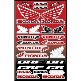 Factory Effex Honda Decal Sheet - 2005 Honda CRF450X 2012 Factory Effex EVO 9 Graphics - Honda