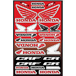 Factory Effex Honda Decal Sheet - Factory Effex Dirt Bike Parts