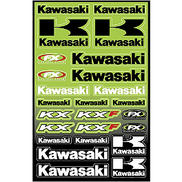 Factory Effex Kawasaki Decal Sheet - 2013 Factory Effex Generic Fork / Swingarm Stickers - Kawasaki