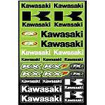 Factory Effex Kawasaki Decal Sheet - Factory Effex Dirt Bike Products