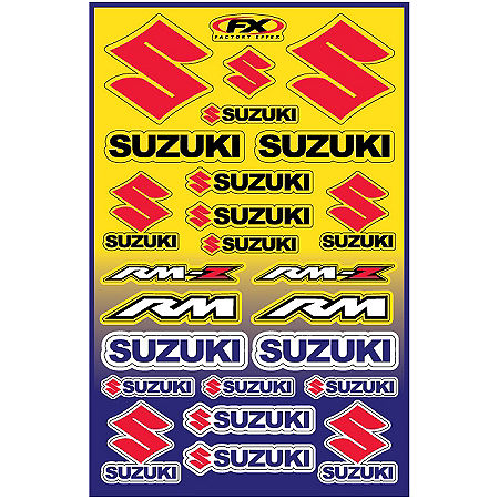 Factory Effex Suzuki Decal Sheet - Main