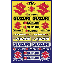 Factory Effex Suzuki Decal Sheet - 2013 One Industries Factory Decal Sheet - Suzuki