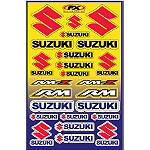Factory Effex Suzuki Decal Sheet - Factory Effex Dirt Bike Parts