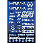 Factory Effex Yamaha Decal Sheet - Factory Effex Dirt Bike Trim Decals
