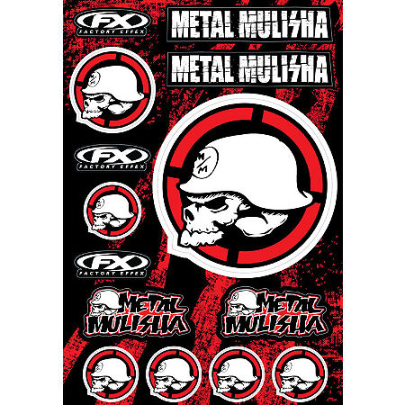 Factory Effex Metal Mulisha Decal Sheet Kit 2 - Main