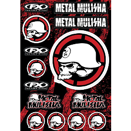 Factory Effex Metal Mulisha Decal Sheet Kit 2 - Metal Mulisha 6 Piece Sticker Variety Kit