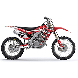 2013 Factory Effex EVO 10 Graphics - Honda - 2013 Honda CRF250R Factory Effex TC-4 Seat Cover With Bump - Honda