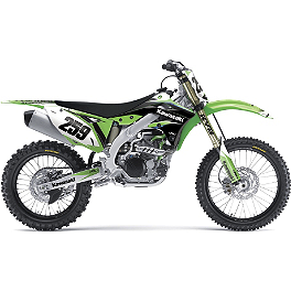 2013 Factory Effex EVO 10 Graphics - Kawasaki - 2008 Kawasaki KX85 2013 Factory Effex Rear Fender Decal - Kawasaki