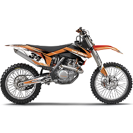 2013 Factory Effex EVO 10 Graphics - KTM - 2013 Factory Effex Two Complete Graphic Kit - KTM