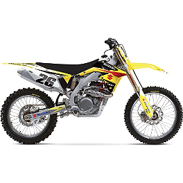 2013 Factory Effex EVO 10 Graphics - Suzuki - 2012 Suzuki RMZ250 Factory Effex All-Grip Seat Cover