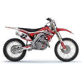 Factory Effex EVO 10 Graphics And Seat Cover Combo - Honda - 2007 Honda CR125 Factory Effex All-Grip Seat Cover