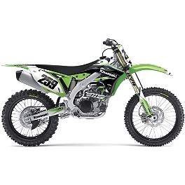 Factory Effex EVO 10 Graphics And Seat Cover Combo - Kawasaki - 2009 Kawasaki KX250F Factory Effex FP1 Factory Pleated Gripper Seat Cover - Kawasaki