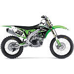 Factory Effex EVO 10 Graphics And Seat Cover Combo - Kawasaki - Dirt Bike Graphic Kits With Seat Covers