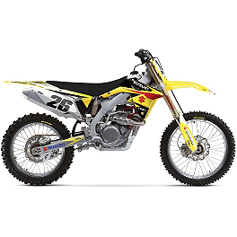 Factory Effex EVO 10 Graphics And Seat Cover Combo - Suzuki - 2004 Suzuki RM250 Factory Effex All-Grip Seat Cover