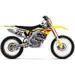 Factory Effex EVO 10 Graphics And Seat Cover Combo - Suzuki - Dirt Bike Graphic Kits With Seat Covers