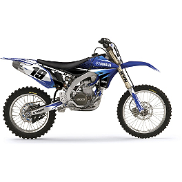 Factory Effex EVO 10 Graphics And Seat Cover Combo - Yamaha - 2011 Yamaha YZ450F Factory Effex FP1 Seat Cover - Black