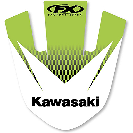 2013 Factory Effex Front Fender Decal - Kawasaki - 2012 Kawasaki KX250F 2013 Factory Effex Rear Fender Decal - Kawasaki