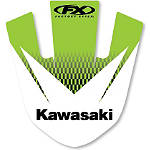 2013 Factory Effex Front Fender Decal - Kawasaki - Kawasaki KX500 Dirt Bike Graphics
