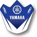 2013 Factory Effex Front Fender Decal - Yamaha - Dirt Bike Trim Decals