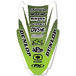 2013 Factory Effex Rear Fender Decal - Kawasaki - Kawasaki KX80 Dirt Bike Body Parts and Accessories