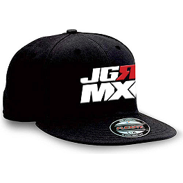 Factory Effex JGR Stacked Flexfit Hat - Factory Effex JGR Emblem Flexfit Hat