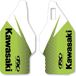 2013 Factory Effex OEM Lower Fork Graphics - Kawasaki - 2013 Kawasaki KX100 2013 Factory Effex Rear Fender Decal - Kawasaki