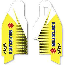 2013 Factory Effex OEM Lower Fork Graphics - Suzuki - 2012 Suzuki RMZ450 Factory Effex OEM Graphics 12 Suzuki