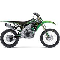 2013 Factory Effex Monster Energy Complete Graphics Kit - Kawasaki