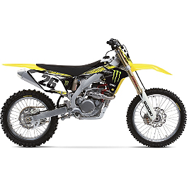 2013 Factory Effex Monster Energy Graphics - Suzuki - 2002 Suzuki RM250 Factory Effex All-Grip Seat Cover