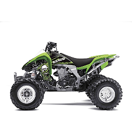 2013 Factory Effex Metal Mulisha ATV Graphics Kit - Kawasaki - 2008 Kawasaki KFX450R Factory Effex All-Grip ATV Seat Cover