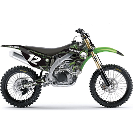2013 Factory Effex Metal Mulisha Graphics - Kawasaki - 2010 Kawasaki KX450F Factory Effex All-Grip Seat Cover