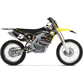 2013 Factory Effex Metal Mulisha Graphics - Suzuki - 2004 Suzuki RM250 Factory Effex All-Grip Seat Cover