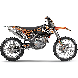 2013 Factory Effex Rebeaud FMX Shroud / Trim Kit - KTM - Factory Effex EVO 10 Graphics And Seat Cover Combo - KTM