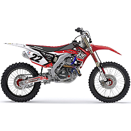 2013 Factory Effex Reed Complete Shroud / Trim Kit - Honda - 2012 Honda CRF250R Factory Effex TC-4 Seat Cover With Bump - Honda
