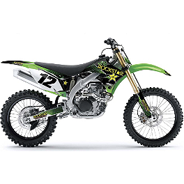 2013 Factory Effex Rockstar Complete Graphic Kit - Kawasaki - 2013 Kawasaki KX250F Factory Effex DX1 Backgrounds Elite - Kawasaki
