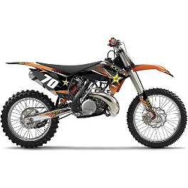 2013 Factory Effex Rockstar Complete Graphic Kit - KTM - 2013 KTM 250SXF Factory Effex All-Grip Seat Cover