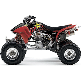 2013 Factory Effex Rockstar ATV Graphics Kit - Honda - 2013 Honda TRX450R (ELECTRIC START) Factory Effex All-Grip ATV Seat Cover