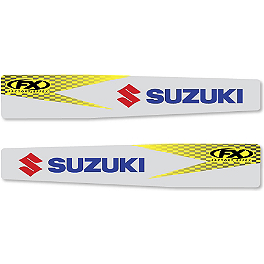 2013 Factory Effex Swingarm Decal - Suzuki - 2012 Suzuki RMZ450 Factory Effex OEM Graphics 12 Suzuki