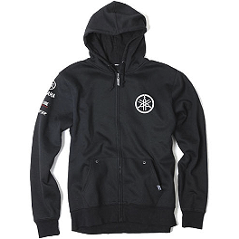 Factory Effex Yamaha Tuning Fork Zip Hoody - One Industries Yamaha Stripes Hooded Fleece Jacket