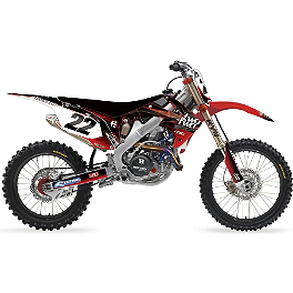 2013 Factory Effex Two Two Complete Graphic Kit - Honda - 2007 Honda CR250 Factory Effex DX1 Backgrounds Standard - Honda