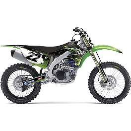 2013 Factory Effex Two Two Complete Graphic Kit - Kawasaki - 2010 Kawasaki KX250F Factory Effex All-Grip Seat Cover