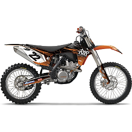 2013 Factory Effex Two Two Complete Graphic Kit - KTM - 2013 Factory Effex Rebeaud FMX Shroud / Trim Kit - KTM
