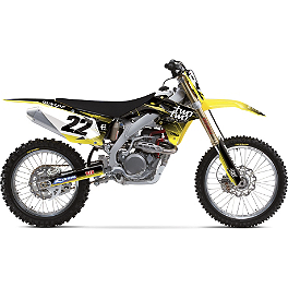 2013 Factory Effex Two Two Complete Graphic Kit - Suzuki - 2014 Suzuki RMZ450 Factory Effex All-Grip Seat Cover