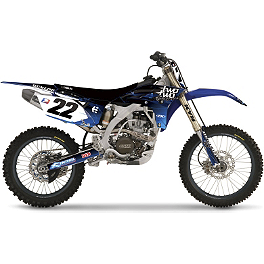2013 Factory Effex Two Two Complete Graphic Kit - Yamaha - 2008 Yamaha YZ250 Factory Effex DX1 Backgrounds Works - Yamaha