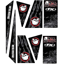 Factory Effex Universal Quad Trim Decals - Metal Mulisha - 2010 Yamaha YFZ450X Factory Effex All-Grip ATV Seat Cover