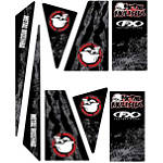 Factory Effex Universal Quad Trim Decals - Metal Mulisha - Yamaha YFZ450 ATV Graphics and Decals
