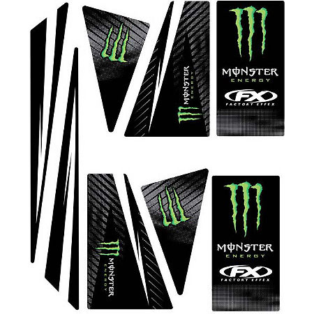 Factory Effex Universal Quad Trim Decals - Monster - Main