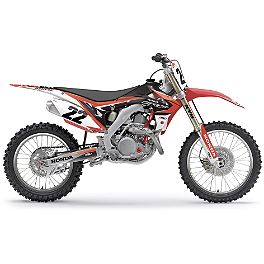 2014 Factory Effex EVO 11 Graphics - Honda - 2006 Honda CRF450R Factory Effex TC-4 Seat Cover With Bump - Honda
