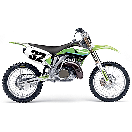 2014 Factory Effex EVO 11 Graphics - Kawasaki - 2005 Kawasaki KX125 Factory Effex All-Grip Seat Cover